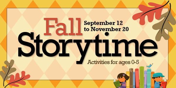Fall Storytime Calendar Kids Only 2016